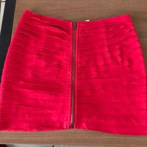 Red hot skirt from urban outfitters